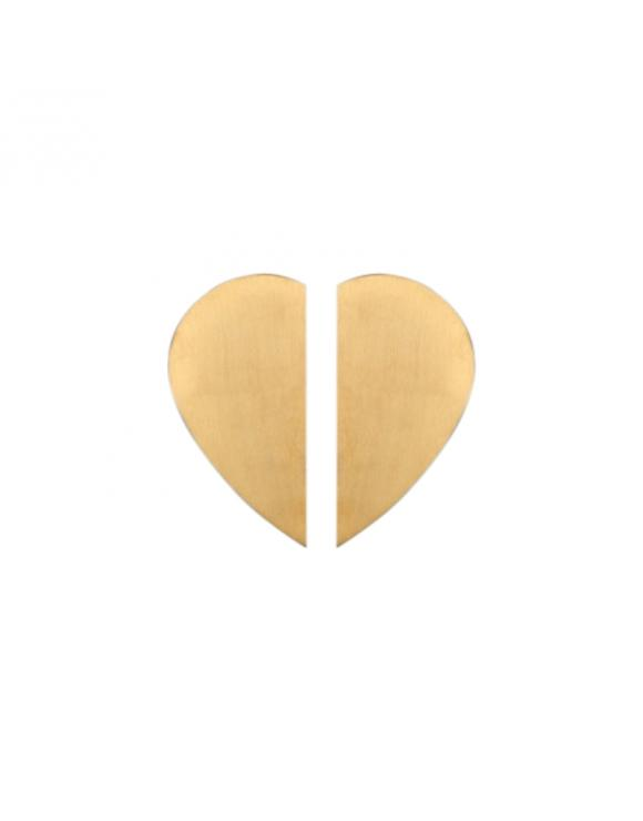 Heart Brass Cabinet Door Handle image