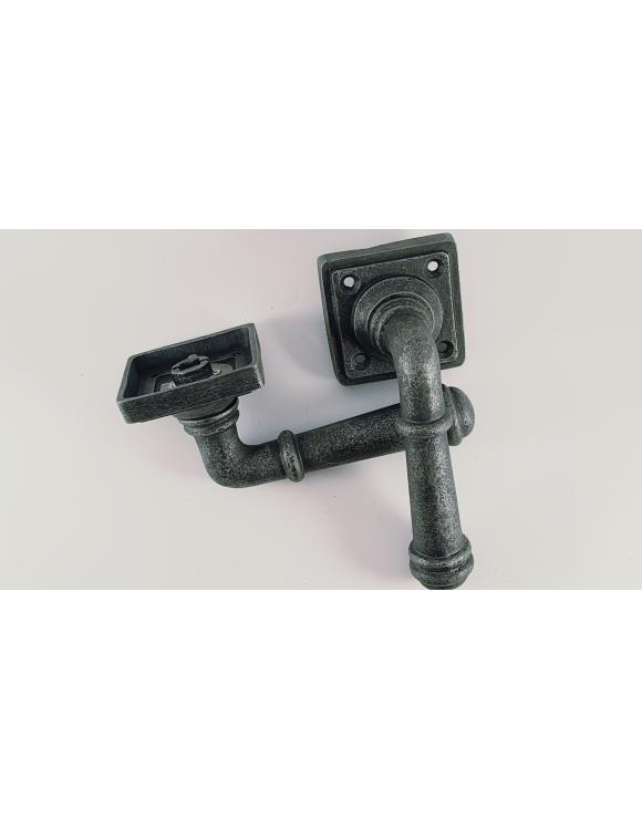 Ribbed Lever Handle on Square Rose image