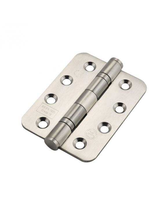 Ball Bearing Rounded Hinge FD30 CE7 Certified 100mm - Select Finish image