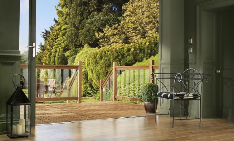 Wood decking in the summer