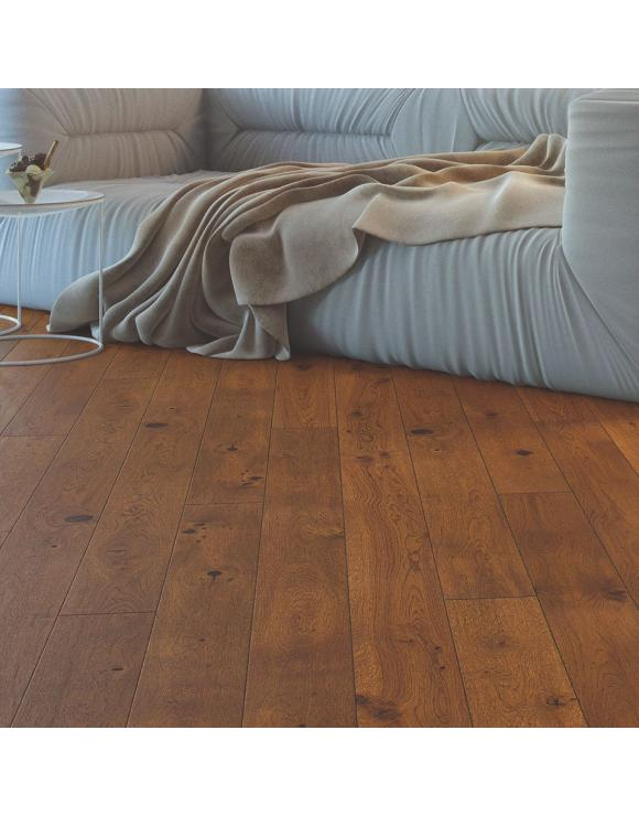Caramel Oak 1 Strip Matt Lacquer 5G Engineered Flooring image