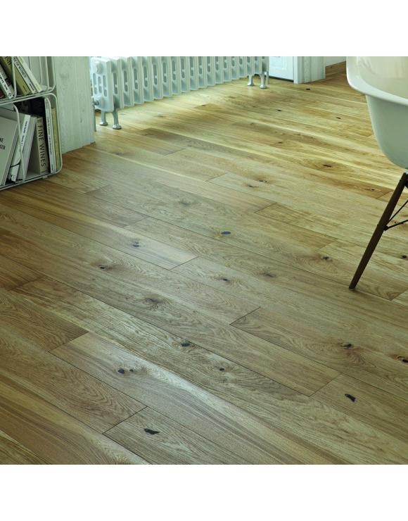 Natural Oak 1 Strip Brushed Matt Lacquer 5G Engineered Flooring image