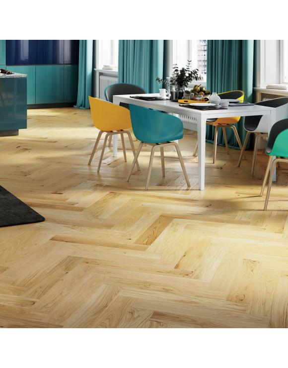 Herringbone Caramel Oak Matt Lacquer 5G Engineered Flooring image
