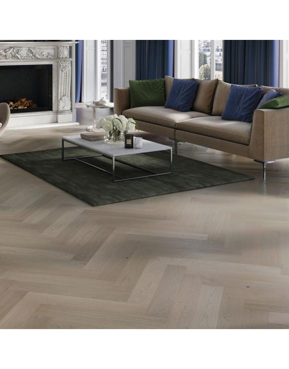 Herringbone Grey Mist Matt Lacquer 5G Engineered Flooring image