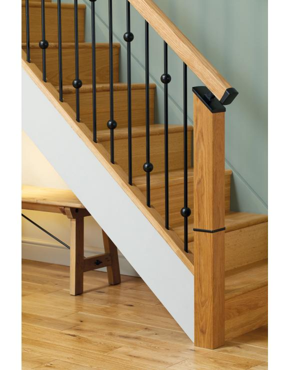 Black Newel Trim For Iron Balustrade image