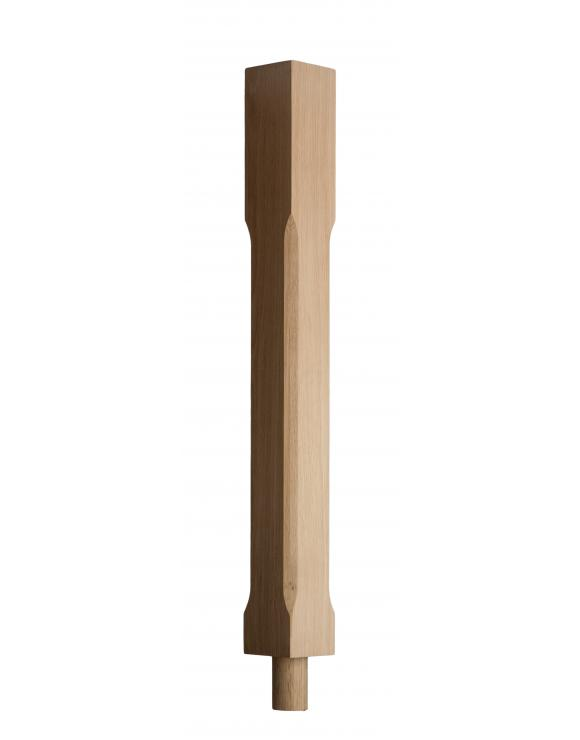 90mm Stop Chamfered Newel Post with Spigot Dowel image