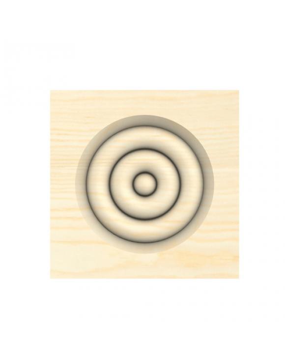 Pine Bulls Eye Architrave Block image