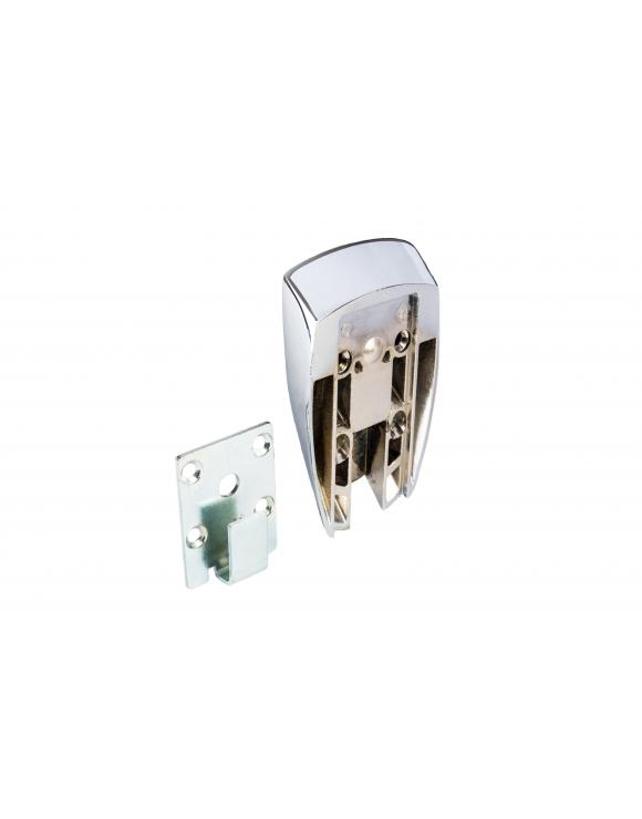 Squared Chrome Slim Handrail to Newel Connector image