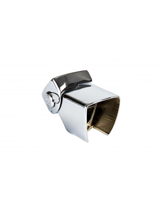 Squared Chrome Adjustable Handrail Connector image