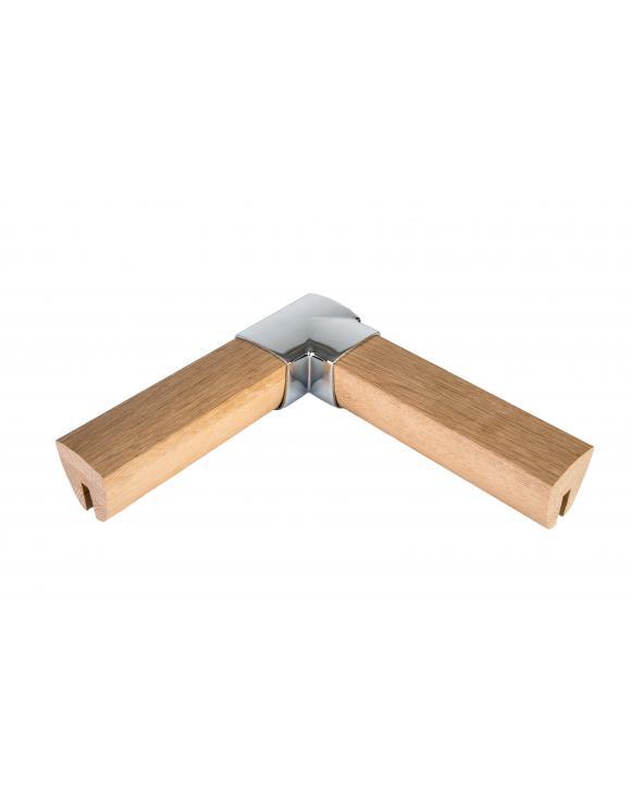 Chrome Squared Handrail Horizontal Turn image