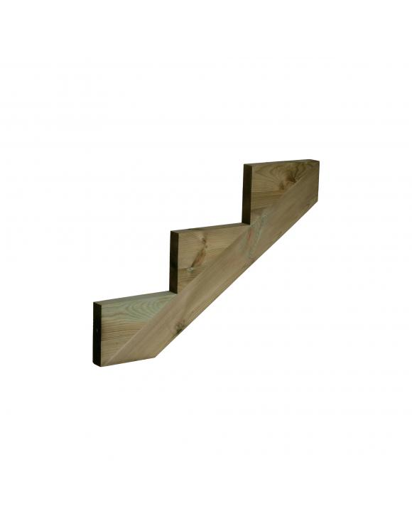 Treated Softwood Decking Stair String - 3 Step image