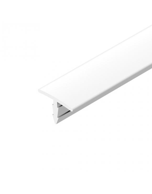 White PVC T Section 12mm x 18mm image