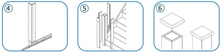 Newel Post Cladding fitting instructions.