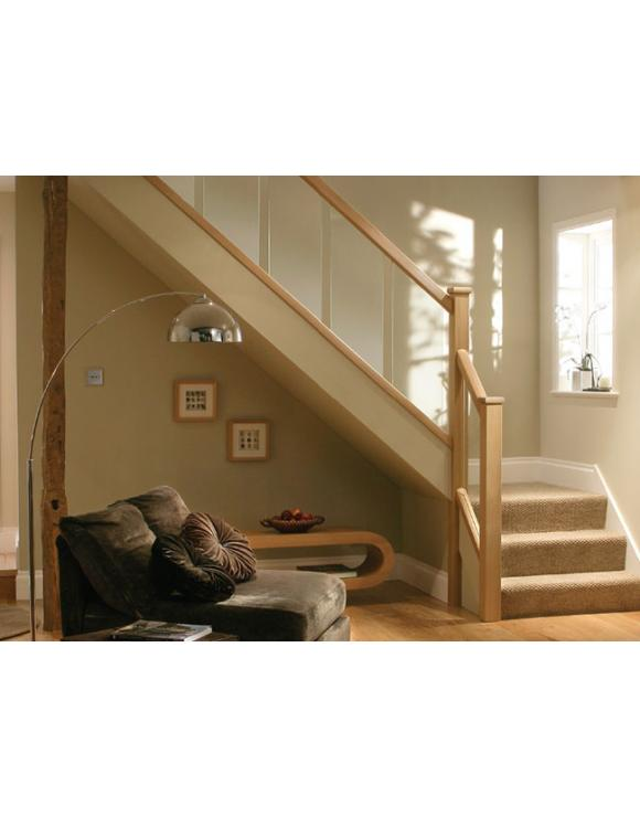 Reflections Oak Stair Handrail for 8mm Glass image