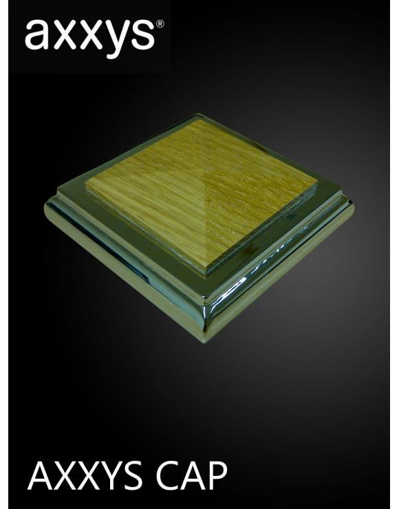 Axxys Squared Oak Newel Cap Chrome image