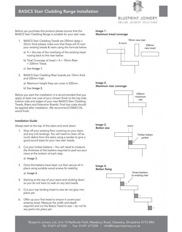BASICS Oak Stair Cladding Tread 1000mm image