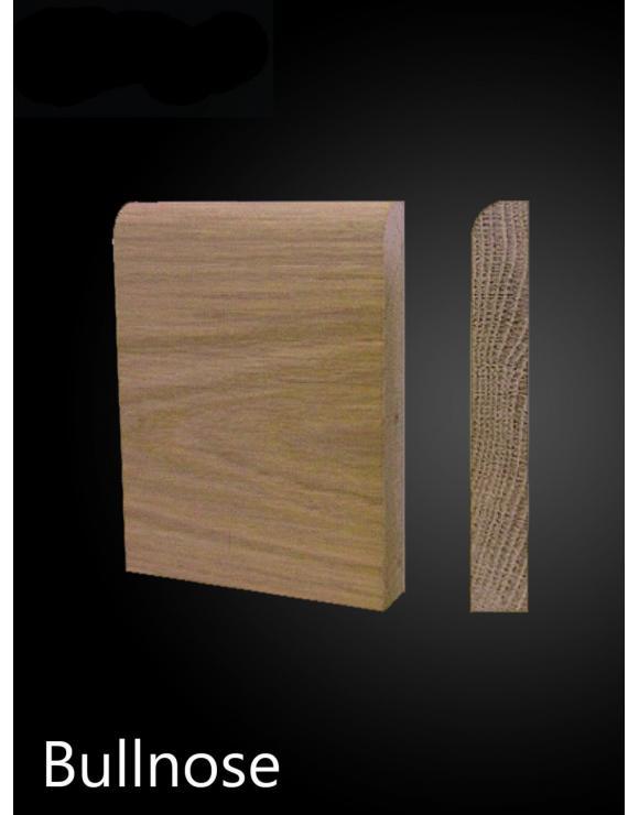 Solid Oak Bullnose Architrave Set image
