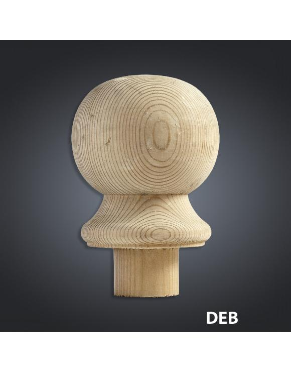 Treated Softwood Decking Ball Newel Caps image