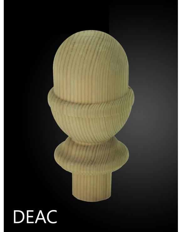 Treated Softwood Decking Acorn Newel Caps image
