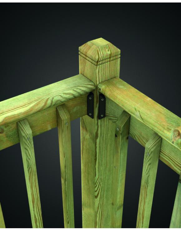 Treated Softwood Baluster Rail image