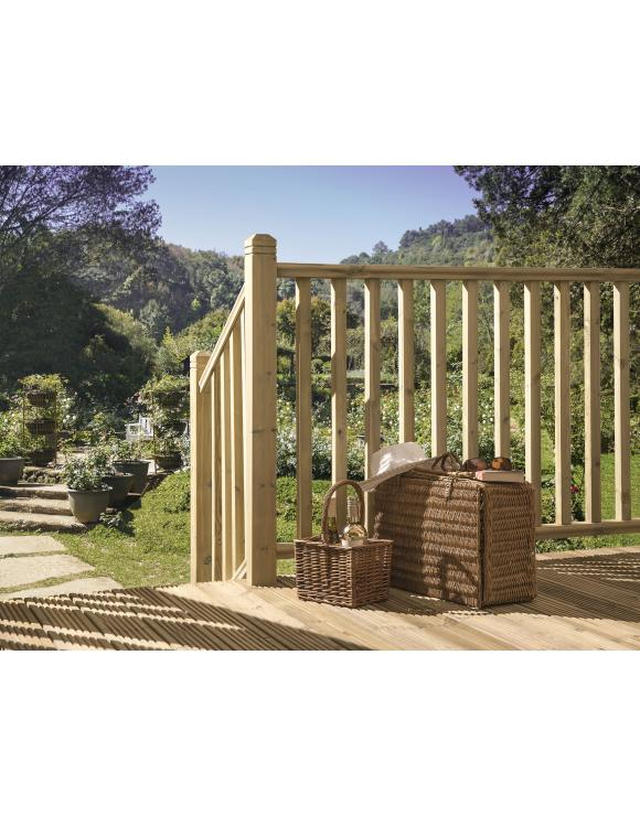 Treated Softwood 41mm Square Timber Decking Spindles image