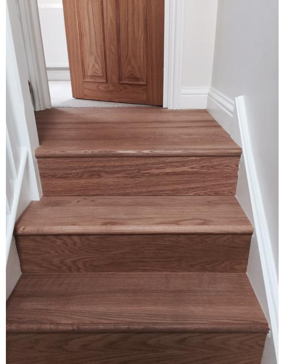 BASICS Oak Stair Cladding Tread Extension image