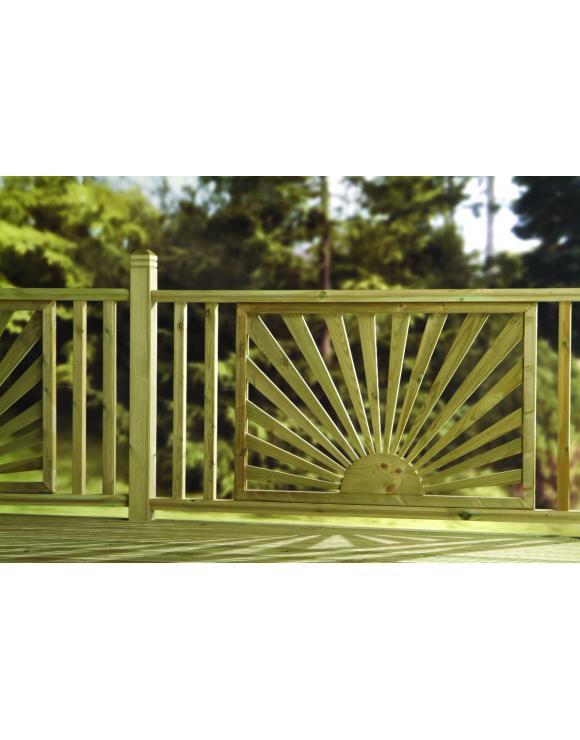 Treated Softwood Decking Panel Sunburst image