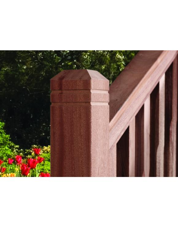 Red Hardwood Decking Capping Rail image