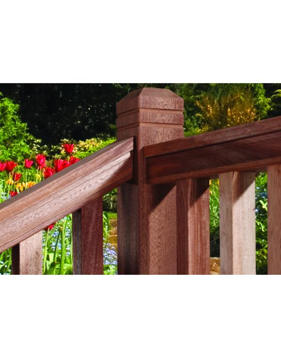 Red Hardwood Decking Hand and Base Rail image