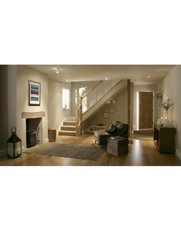Reflections Glass Solid Oak Stair Hand Rails for 8mm Glass image