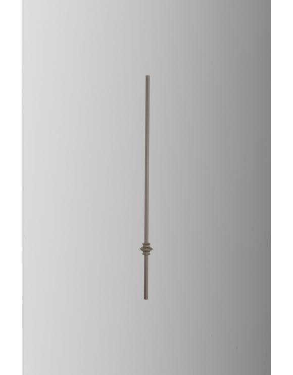 Contemporary Square Black Iron Landing Spindle image