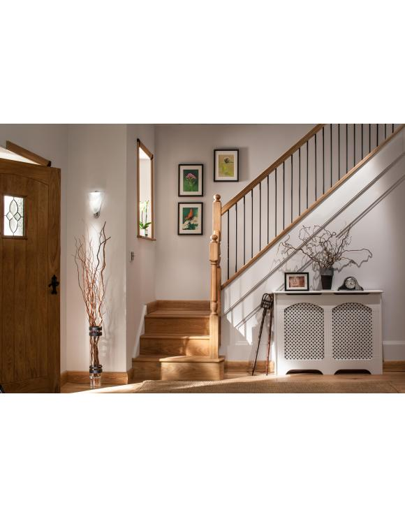 Oak Handrail for Black Iron Landing Spindles image