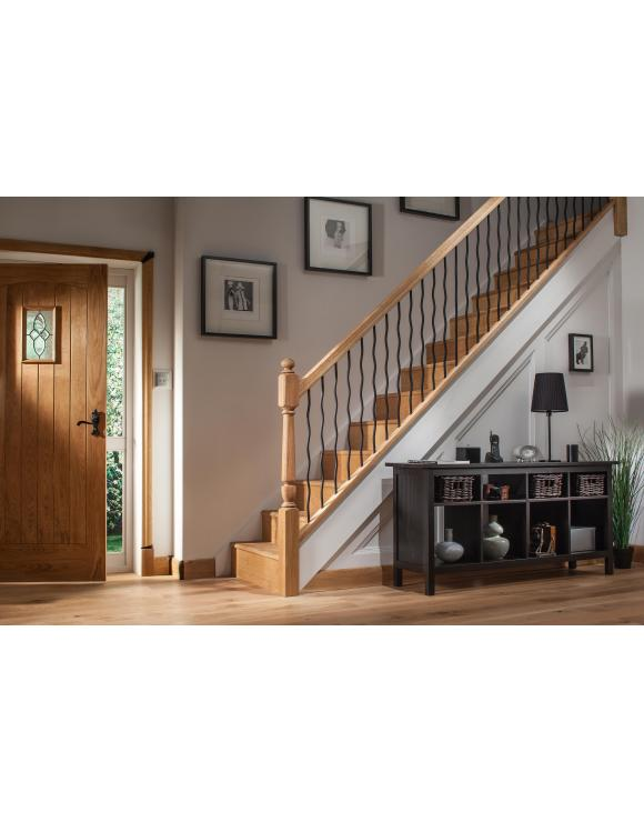 Contemporary Black Iron Wavey Round Stair Spindle image