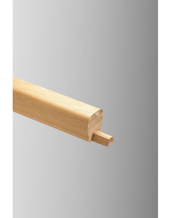 Contemporary Clearview Solid Oak Handrail image