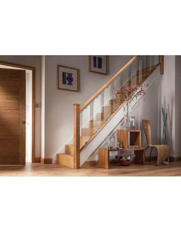 Contemporary Clearview Solid Oak Base Rail image