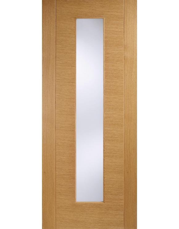 Europa Flush Aragon Glazed Oak Interior Door image