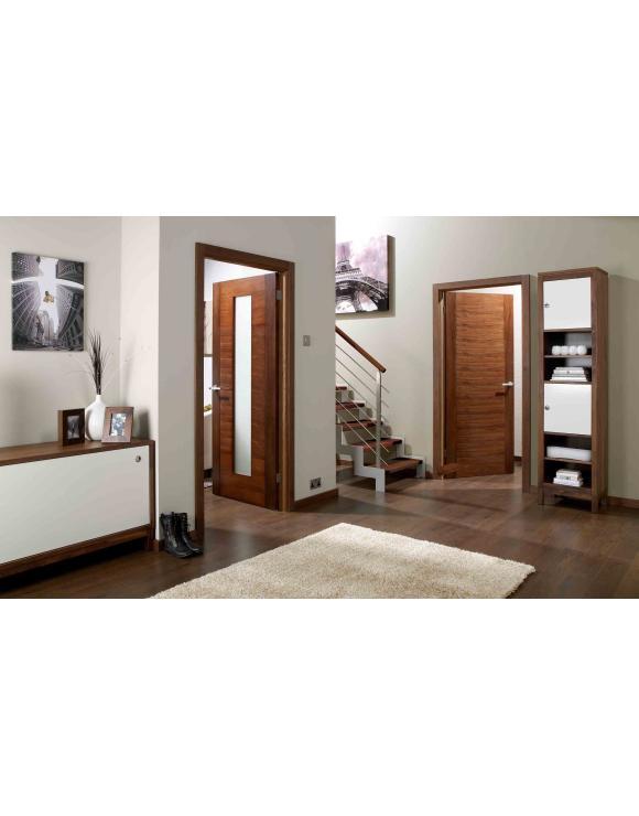 Europa Flush Aragon Glazed Walnut Interior Door image