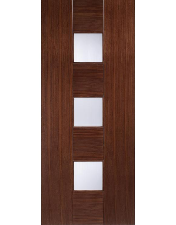 Europa Flush Catalonia Glazed Walnut Interior Door image