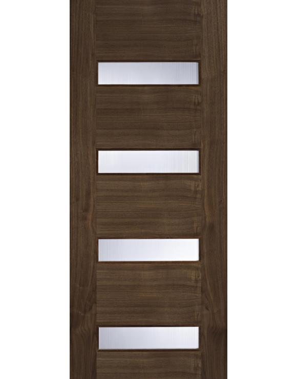 Europa Flush Monaco Glazed Walnut Interior Door image