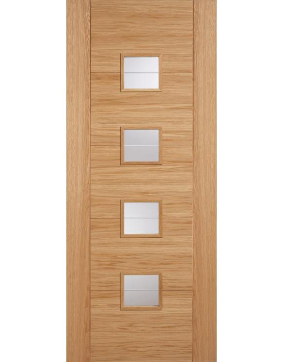 Vancouver 4L Glazed Oak Interior Door image