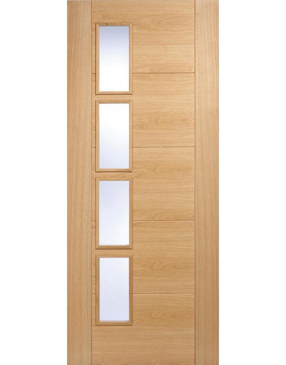 Vancouver 4L Offset Oak Interior Door image