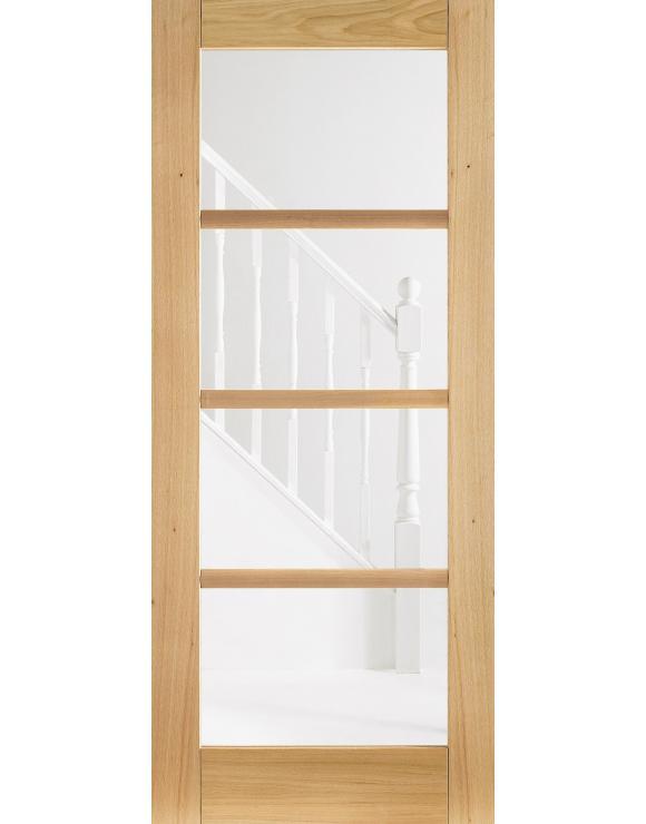 Oslo 4L Glazed Pre-Finished Oak Interior Door image