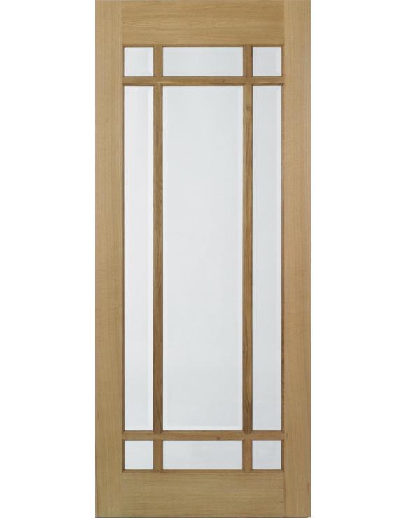Lyon Glazed Pre-Finished Oak Interior Door image