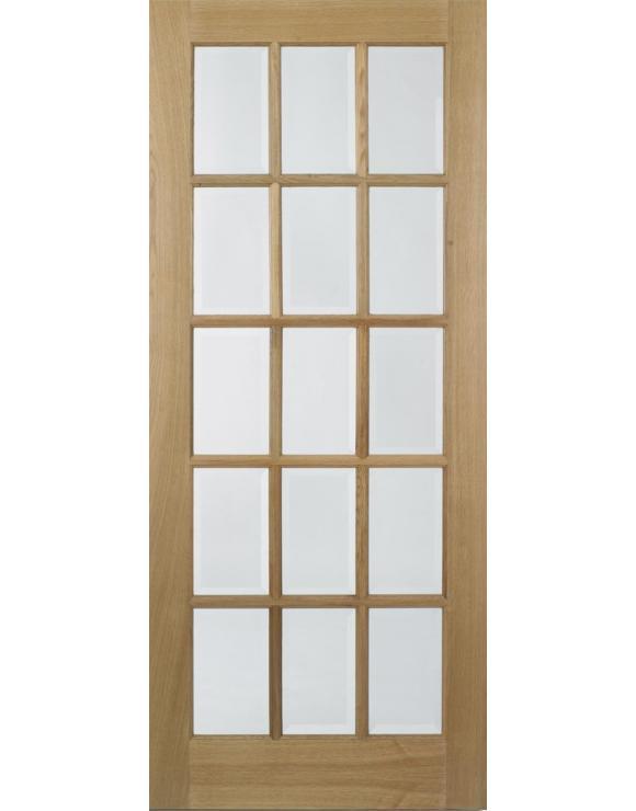 SA 15L Glazed Pre-Finished Oak Interior Door image