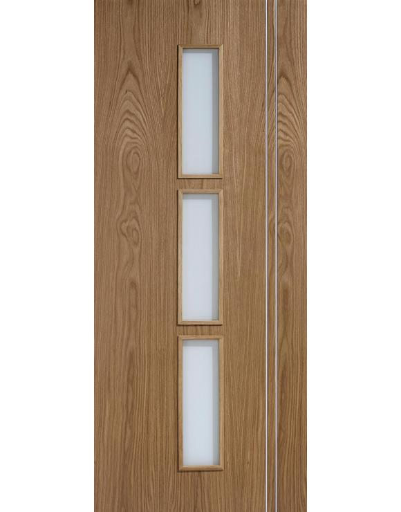 Europa Flush Sierra Glazed Oak Interior Door image