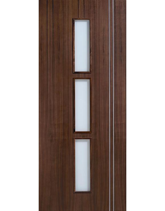 Europa Flush Sierra Glazed Walnut Interior Door image