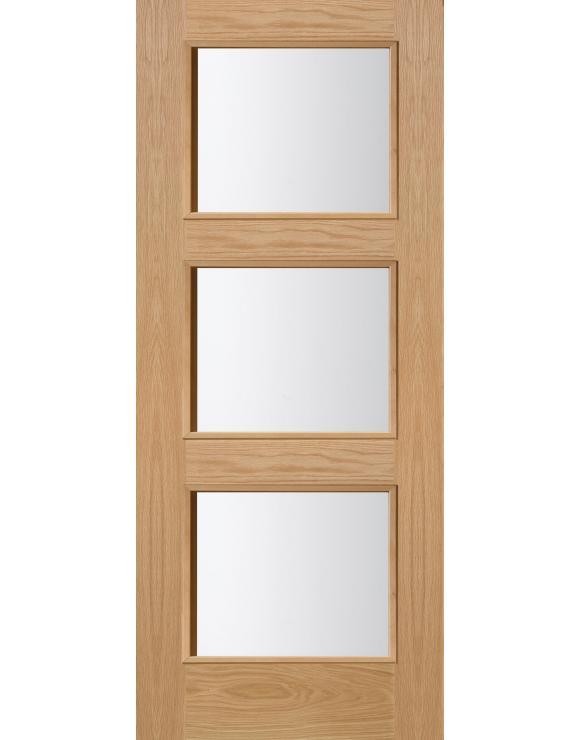 Brienz 3L Oak Glazed Interior Door image