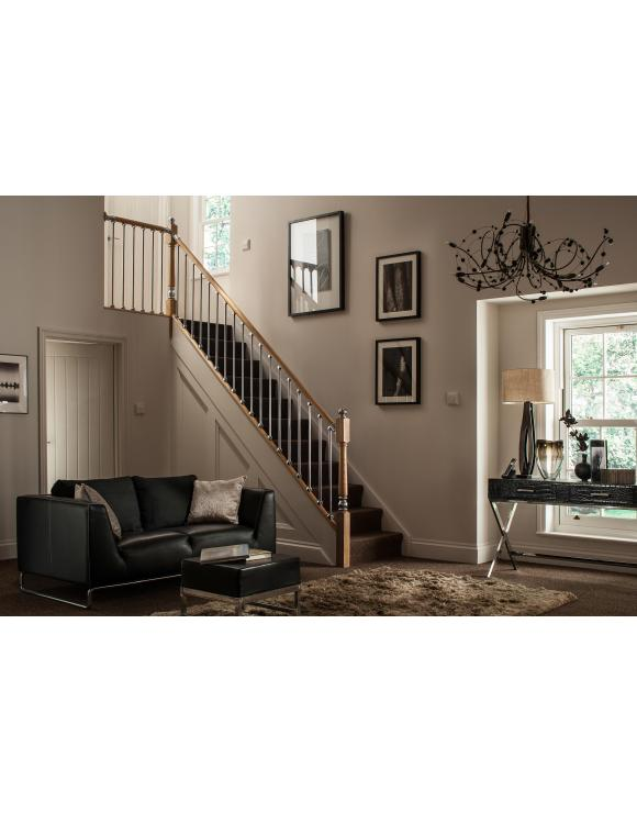 Axxys 90 Degree Handrail Level Quarter Turn Select Chrome or Brushed Nickel image
