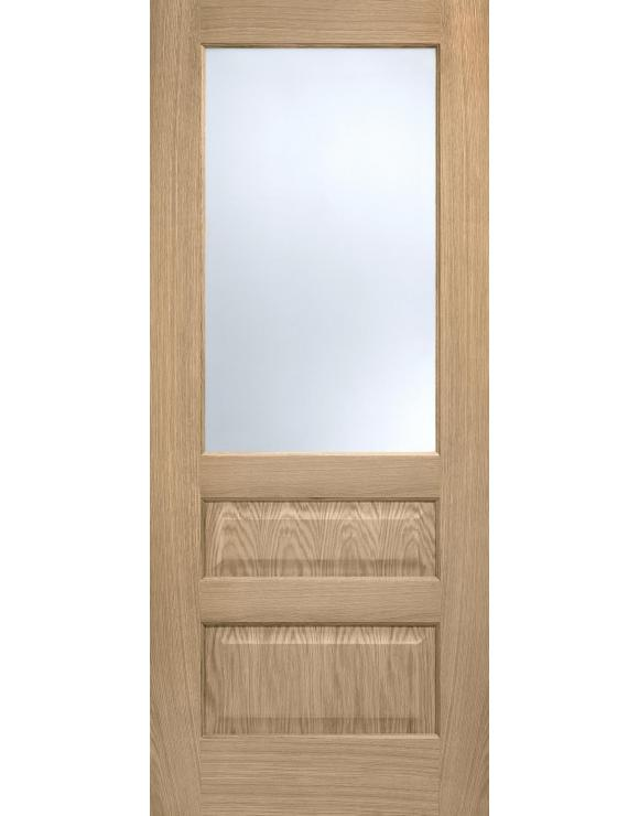Contemporary 1L/2P Pre-Finished Oak Interior Door image