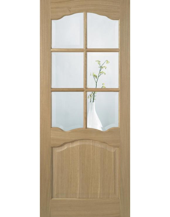 Riviera 6L Glazed Pre-Finished Oak Interior Door image